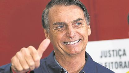 Liberal. Bolsonaro se rodeó de figuras promercado.