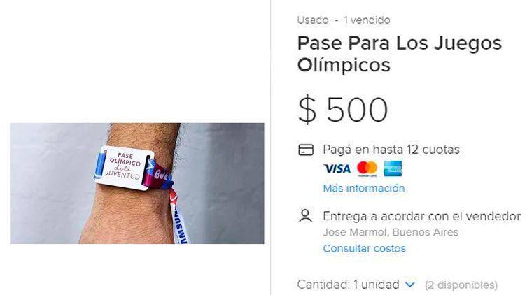 Revenden los pases gratuitos olimpícos en Mercado Libre