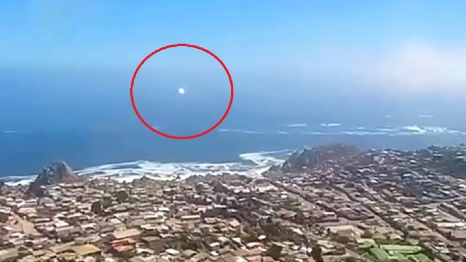 El supuesto OVNI que captaron en Coquimbo y del que hablan los chilenos