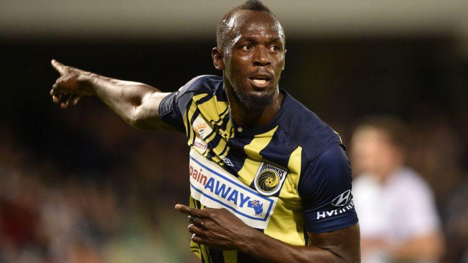 Los primeros goles de Usain Bolt en el fútbol de Australia