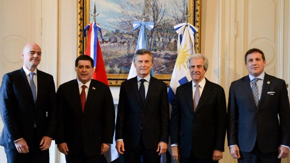 Argentina ratifica a Uruguay compromiso con candidatura mundialista — Fútbol