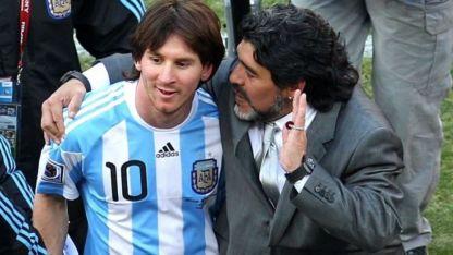 Maradona dirigió la Selección con Messi en el 2010.