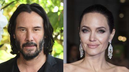 Keanu Reeves y Angelina Jolie.