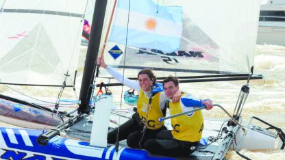 Dorados. Cittadini y Romairone ganaron en Yachting (Nacra 15).