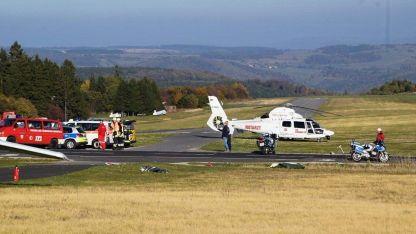 El accidente se produjo en una colina cerca de Fulda.
