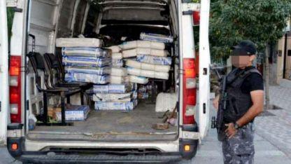 Las bolsas con la droga fueron acomodadas en varias camionetas después del operativo del 2017.