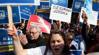 Marcha. Una protesta en 2017 frente a la Quinta de Olivos contra el proyecto de ley de alquileres.