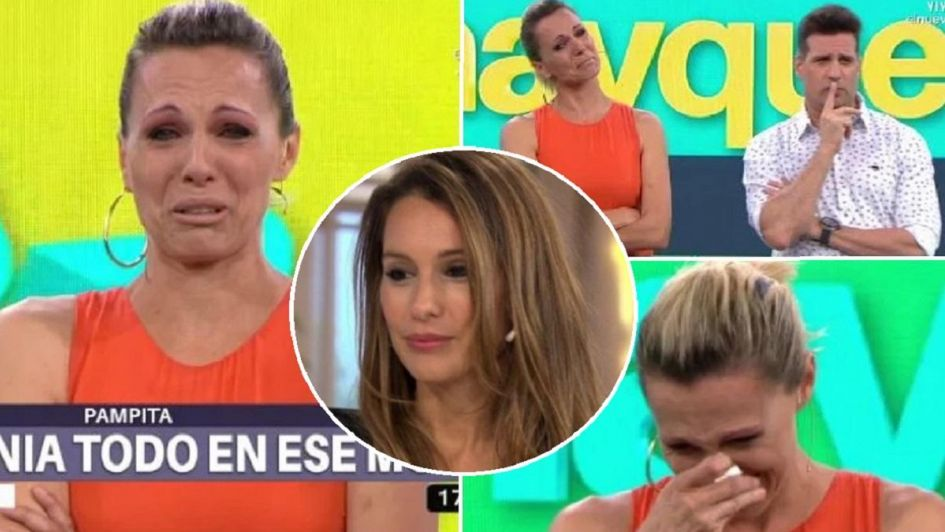 Denise Dumas se emocionó al ver un video de Pampita