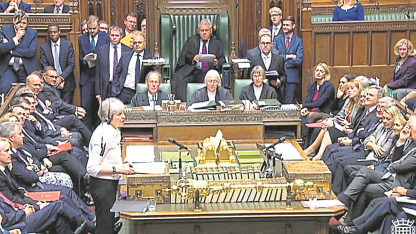 Theresa May. La primera ministra habló ayer sobre el Brexit en la Cámara de los Comunes.