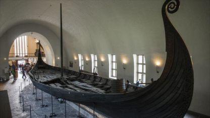 El barco Oseberg hallado en 1903 Museo de Oslo en Noruega.