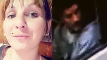 Carolina Medina, la víctima fatal, y Ariel García, el detenido.