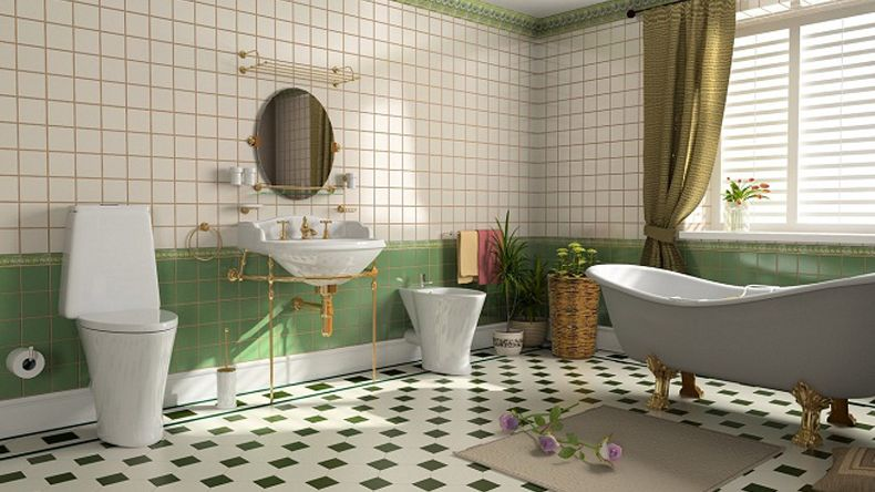 Deco ideas para decorar un baño vintage