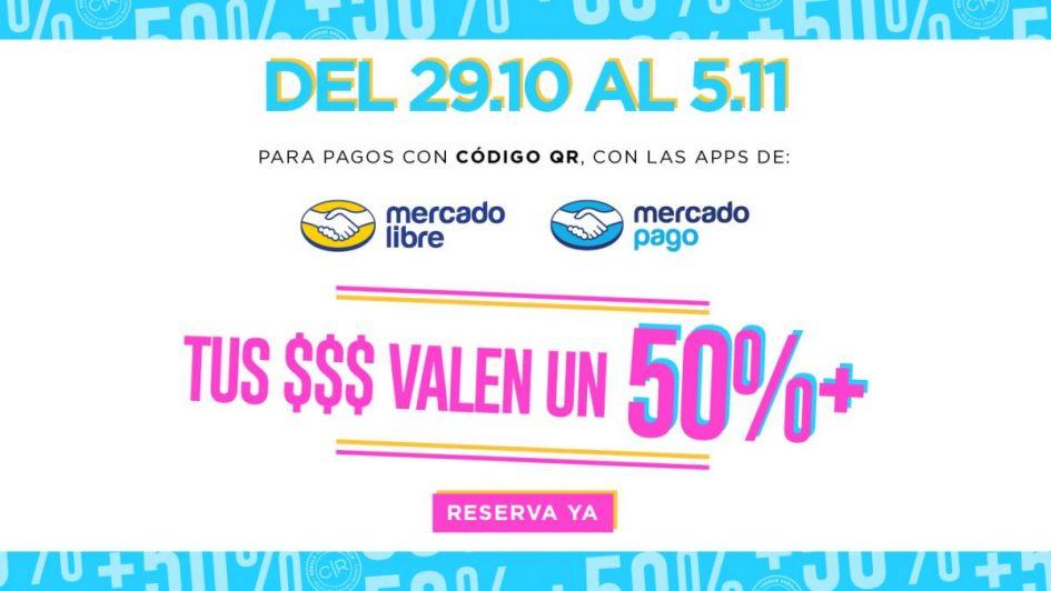 Tus $$$ valen un 50% más en Mendoza Plaza Shopping