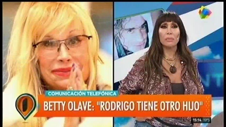 Betty Olave se refirió a un supuesto hijo de Rodrigo