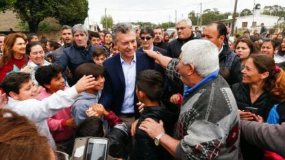 Macri habló con la prensa en Río Cuarto, Córdoba.