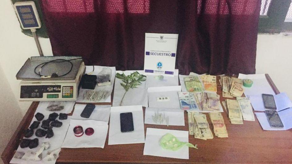 Una decena de detenidos con cocaína y marihuana en Maipú, San Carlos y Malargüe