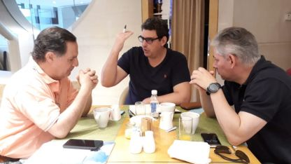Mario Lázaro, Martín Kerchner y Emilio Guiñazú.