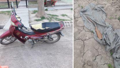 La moto robada y la escopeta secuestrada en el Este.