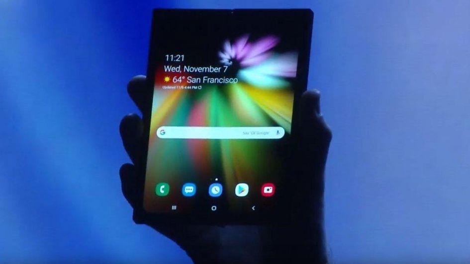 Una nueva era: Samsung presentó su teléfono plegable