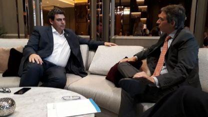 Gira oficial. El ministro Kerchner se reunió con el embajador argentino Federico Barttfeld.