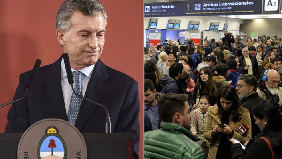 Macri, enojado por la protesta de Aerolíneas: