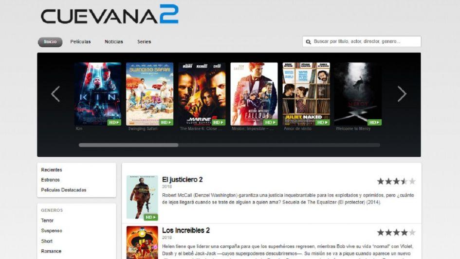 La Justicia bloqueó Cuevana, el popular sitio web para ver películas y series gratis