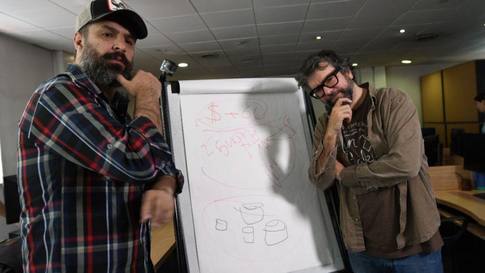 Video: Los ilustres Liniers y Montt llenaron de dibujos y humor la redacción de Los Andes
