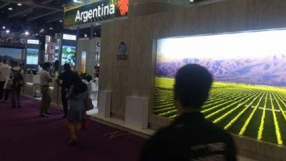 El stand. El puesto de Argentina sobresale del resto.