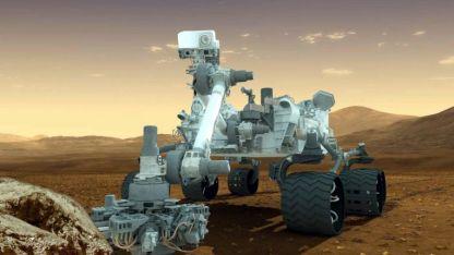 """Maravilla. Esta concepción artística del vehículo """"Curiosity"""" un robot móvil para investigar la capacidad de vida microbiana en Marte."""
