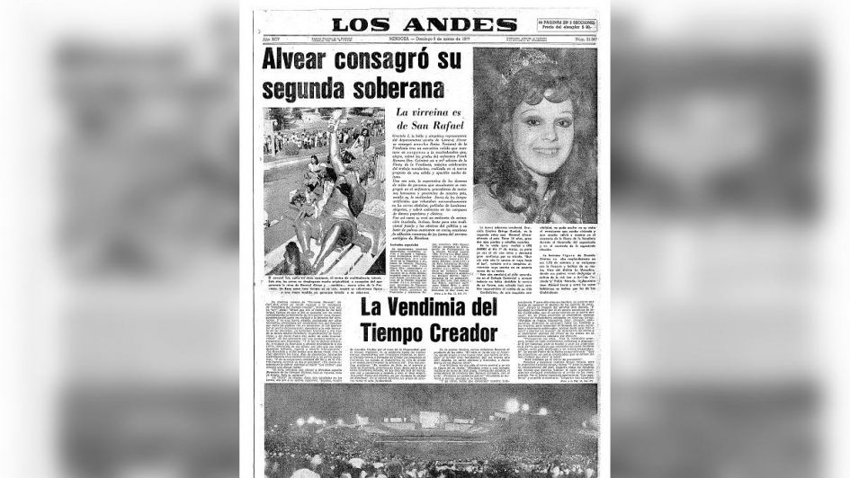 Dolor por la muerte de una querida ex Reina Nacional de la Vendimia