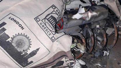 La bomba con la que se intentó atacar al juez Claudio Bonadio.
