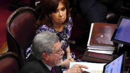Esperando su discurso. La ex presidenta Cristina Fernández era la anteúltima oradora anotada. Su voto ya se sabía: en contra.