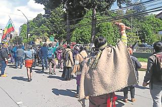 Exceso. Para los mapuches, la policía militar se excedió.