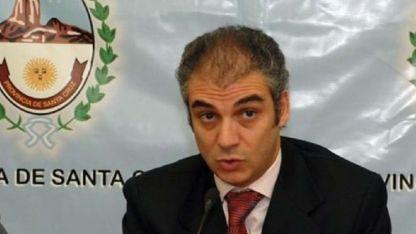 Valijero. Juan Manuel Campillo cuando era ministro de Hacienda de la provincia de Santa Cruz.