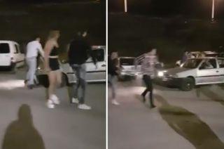 El conductor arremetió contra un grupo de chicos luego de una pelea entre dos grupos.