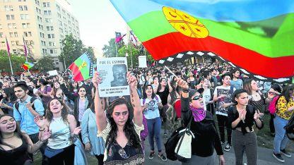 Protestas por la muerte de un joven mapuche.