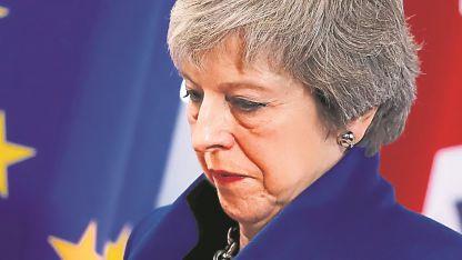 Theresa May. La primera ministra británica dijo que se fueron de la UE pero no de Europa.