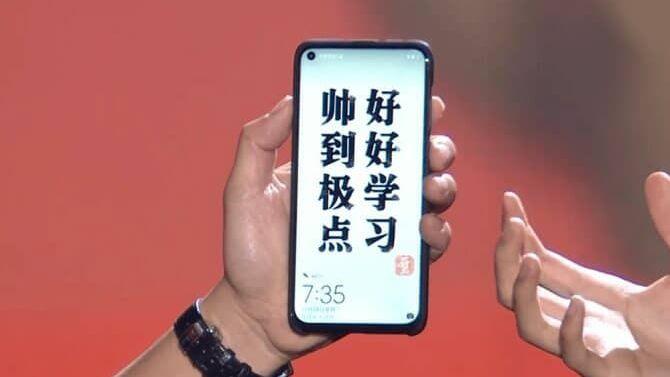 Huawei mostró el Nova 4, primer teléfono con cámara en la pantalla