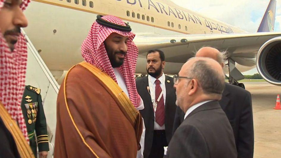 Príncipe saudí Mohamed bin Salmán llegó a Argentina para participar en G20
