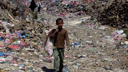 En yemen. Según Save the Children, 85 mil niños murieron.