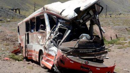 Vuelco fatal. El ómnibus volcó en la ruta 7 el 2 de febrero pasado. Viajaba a Paraguay.