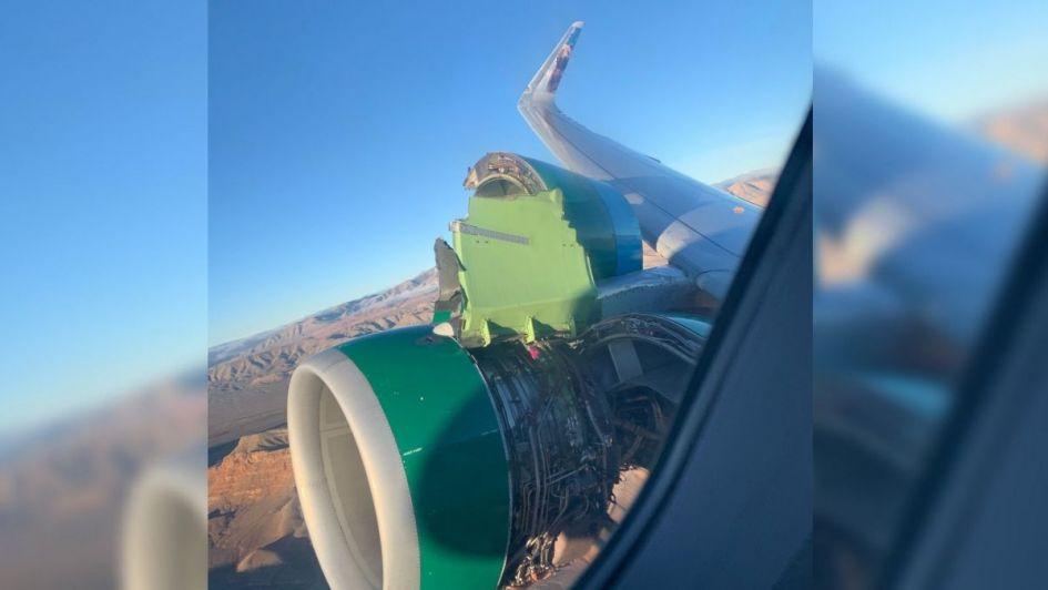 Pasajeros vieron cómo se desarmaba turbina del avión en pleno vuelo