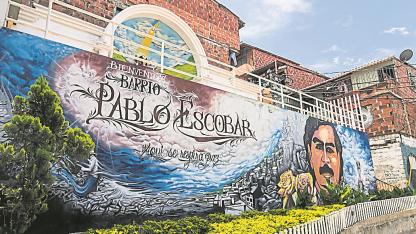 Fans. En Medellín, en el barrio que lleva su nombre, un mural recuerda al fallecido narcotraficante.