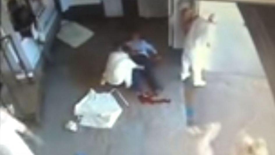 Video sensible: un contador murió tras impedir un asalto en un frigorífico de Bueno Aires