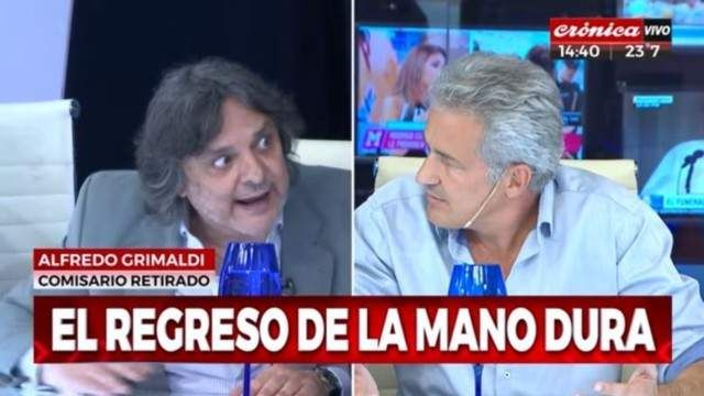 Escándalo: Ivo Cutzarida invitó a pelear a un excomisario en Crónica TV
