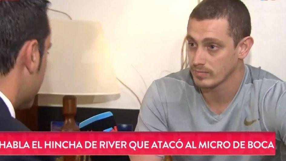 Habló el hincha de River que atacó el micro de Boca: