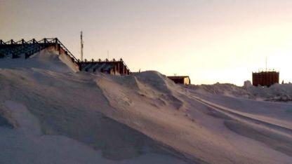 Aislación. Vista de la Base Marambio, donde se hizo el trabajo.