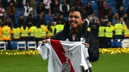 Gallardo es el primer DT de River que gana dos Libertadores.