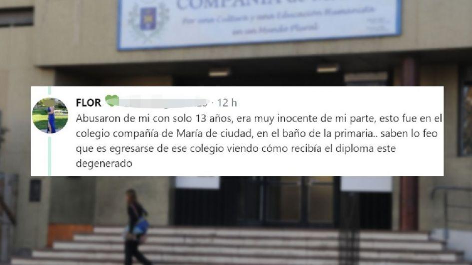 Denunció que fue abusada en el baño de un colegio de Mendoza cuando tenía 13 años