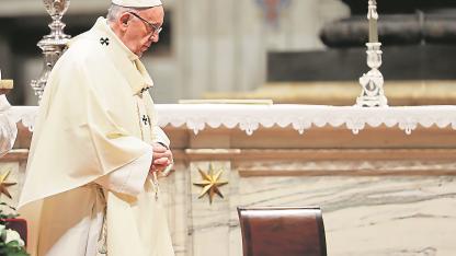 Autoridad. El papa Francisco señaló que la iglesia chilena vivió durante décadas una cultura de abusos y encubrimiento.